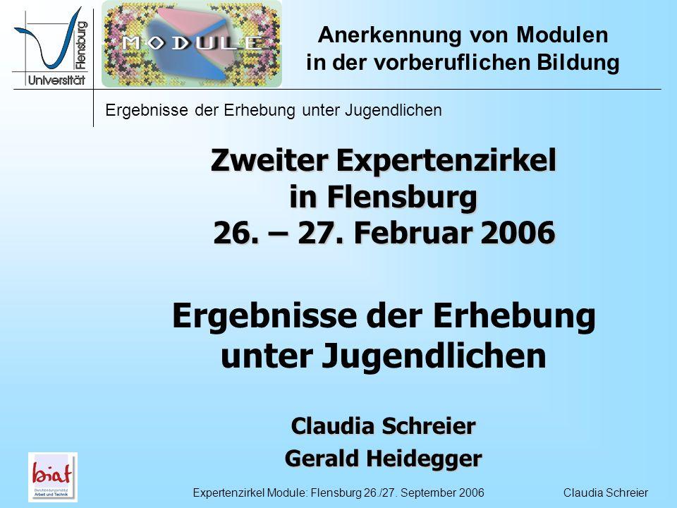 Zweiter Expertenzirkel in Flensburg 26. – 27. Februar 2006