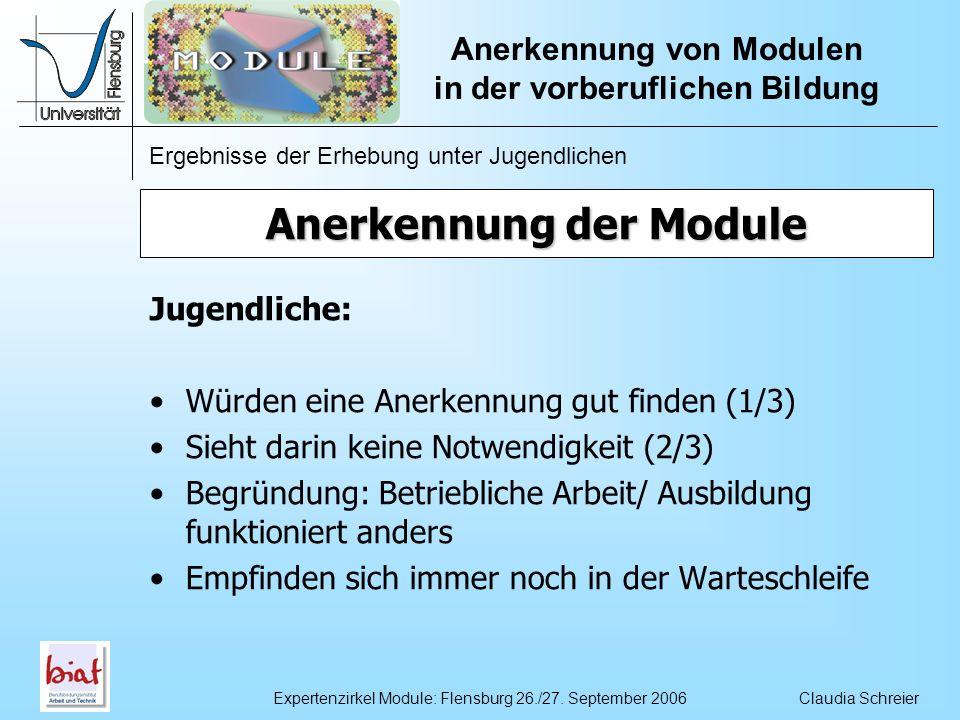 Anerkennung der Module