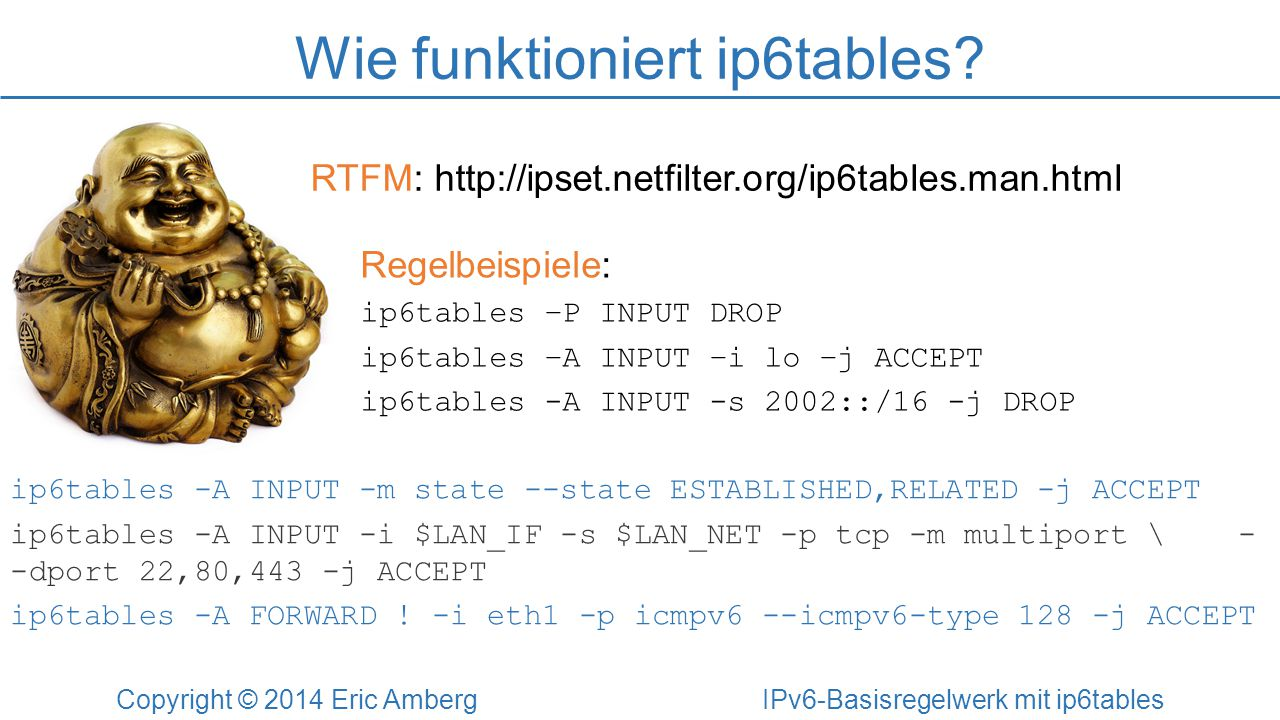 Wie funktioniert ip6tables