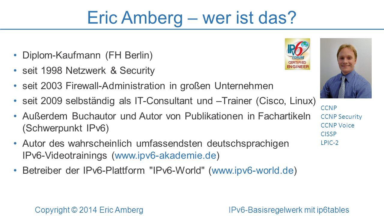 Eric Amberg – wer ist das