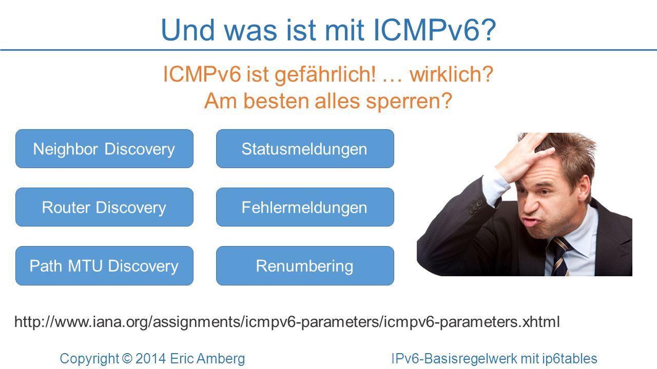 Und was ist mit ICMPv6 ICMPv6 ist gefährlich! … wirklich