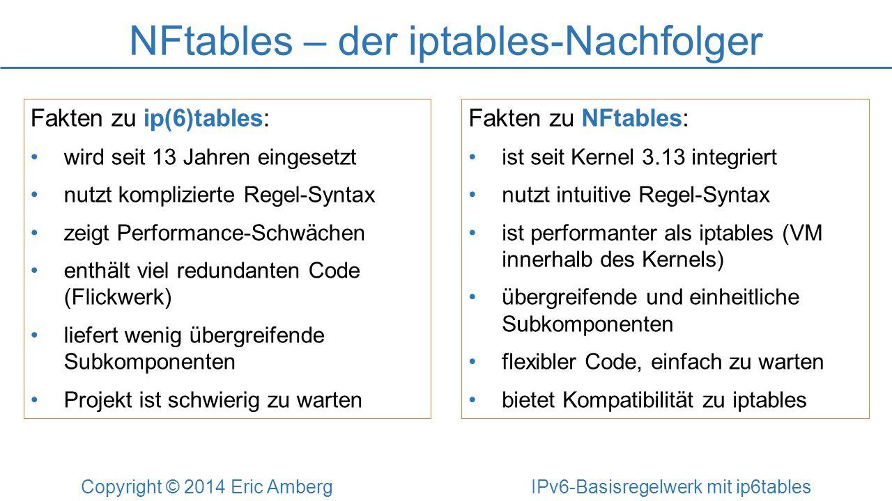 NFtables – der iptables-Nachfolger
