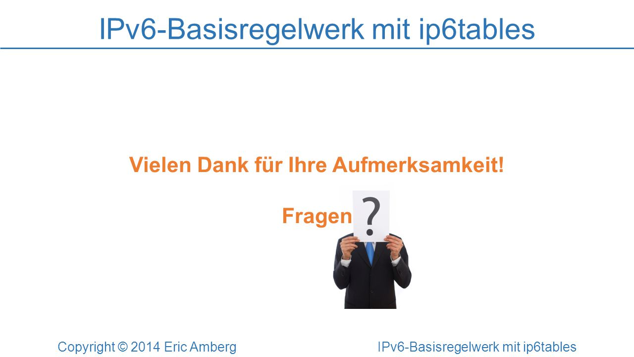 IPv6-Basisregelwerk mit ip6tables