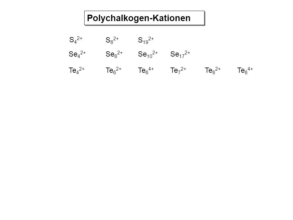 Polychalkogen-Kationen