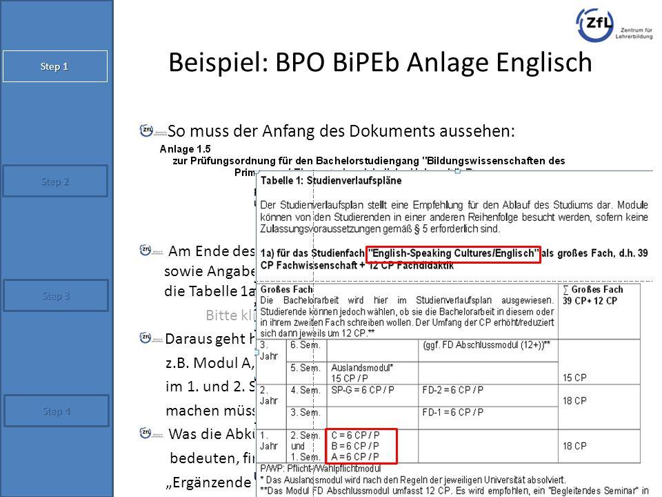 Beispiel: BPO BiPEb Anlage Englisch