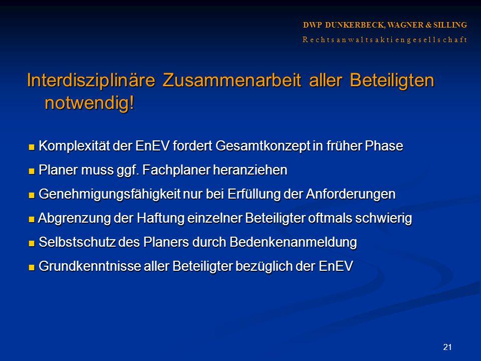 Interdisziplinäre Zusammenarbeit aller Beteiligten notwendig!