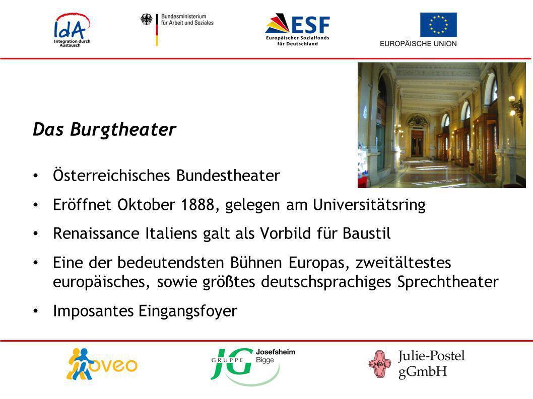 Das Burgtheater Österreichisches Bundestheater