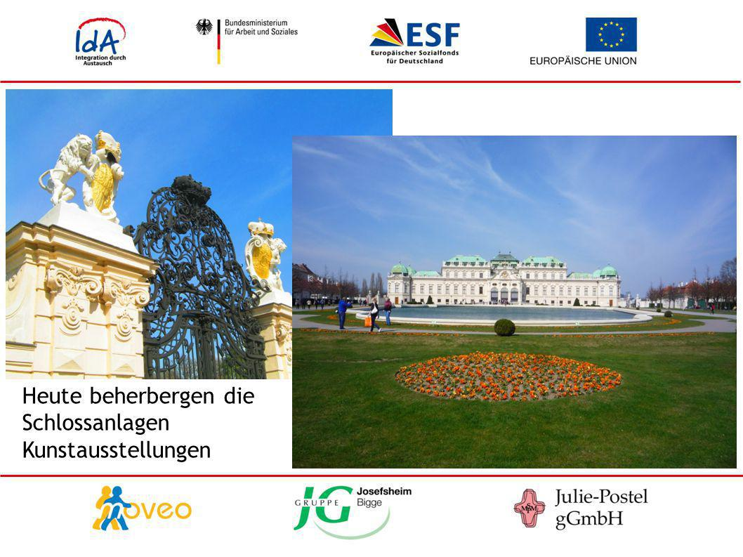 Heute beherbergen die Schlossanlagen Kunstausstellungen