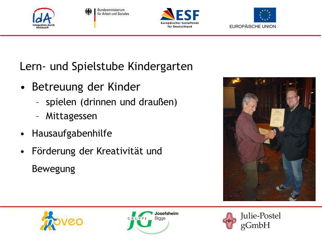 Lern- und Spielstube Kindergarten Betreuung der Kinder
