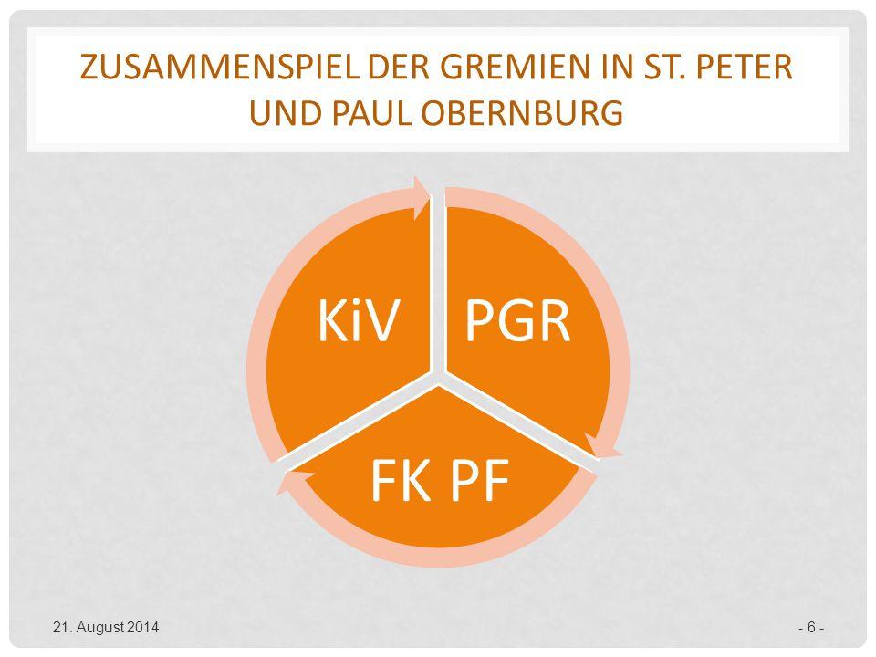 Zusammenspiel der Gremien in St. peter und Paul Obernburg