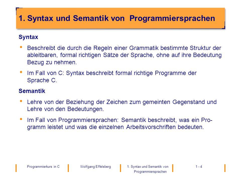 1. Syntax und Semantik von Programmiersprachen