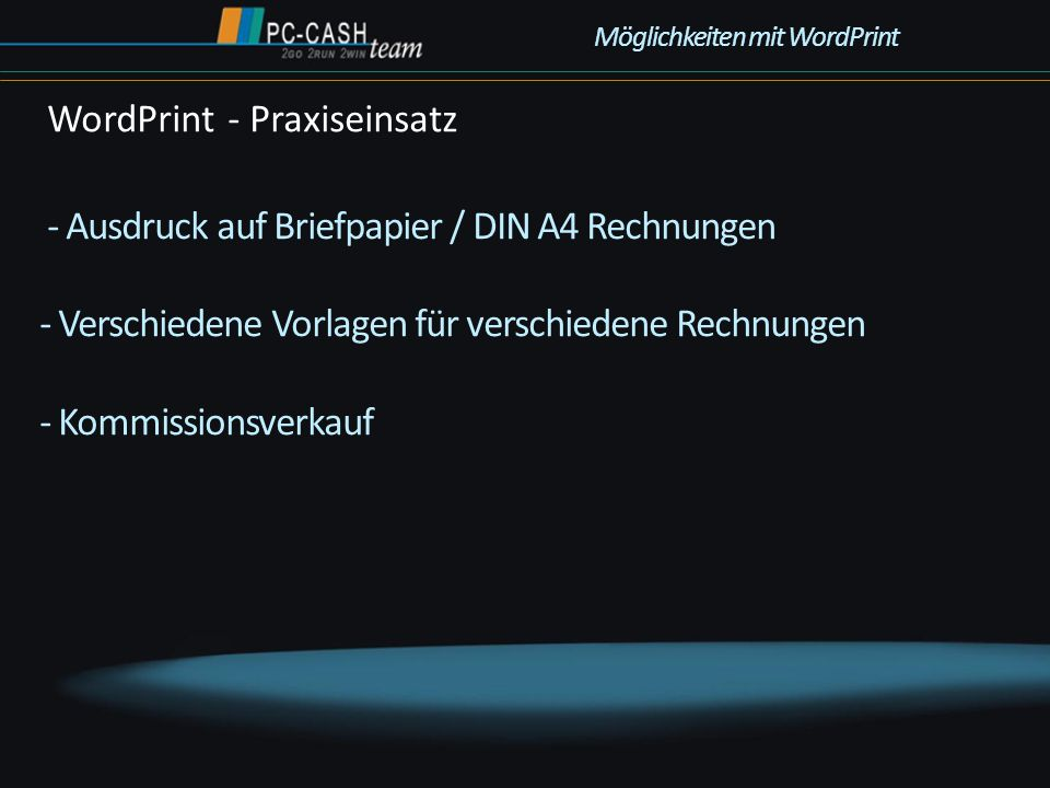 WordPrint - Praxiseinsatz