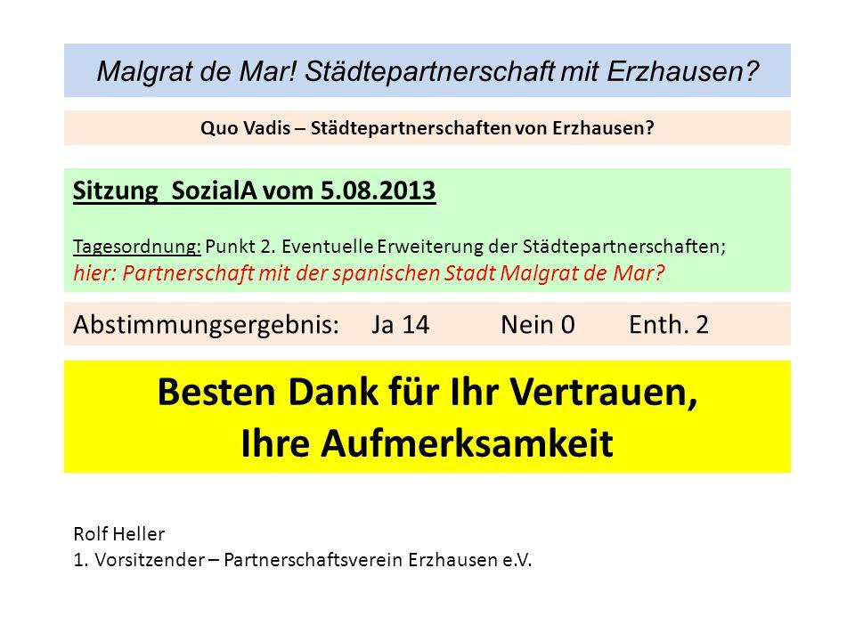 Malgrat de Mar! Städtepartnerschaft mit Erzhausen