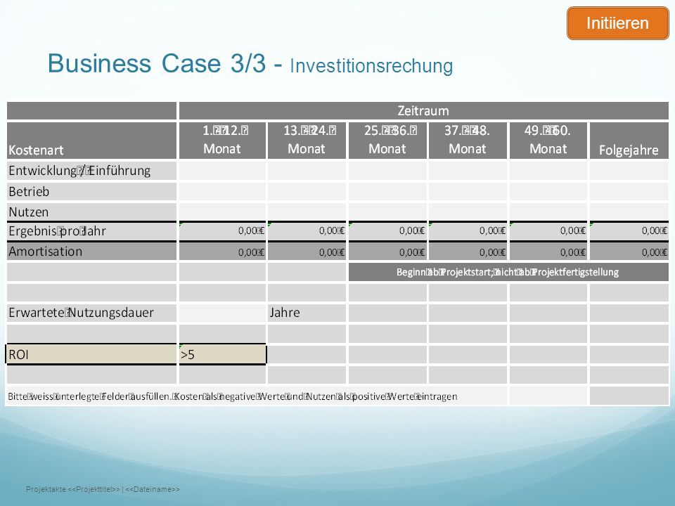 Business Case 3/3 - Investitionsrechung