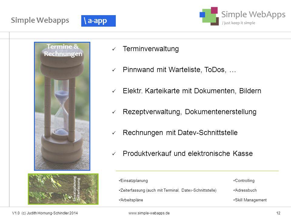 Simple Webapps \ a-app Terminverwaltung