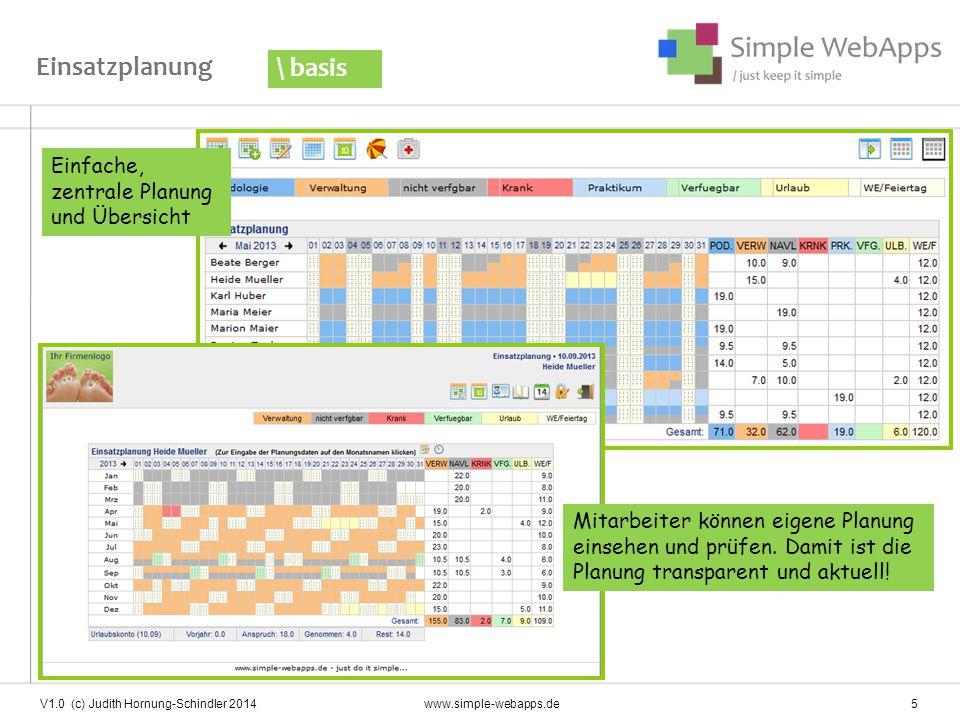 Einsatzplanung \ basis Einfache, zentrale Planung und Übersicht