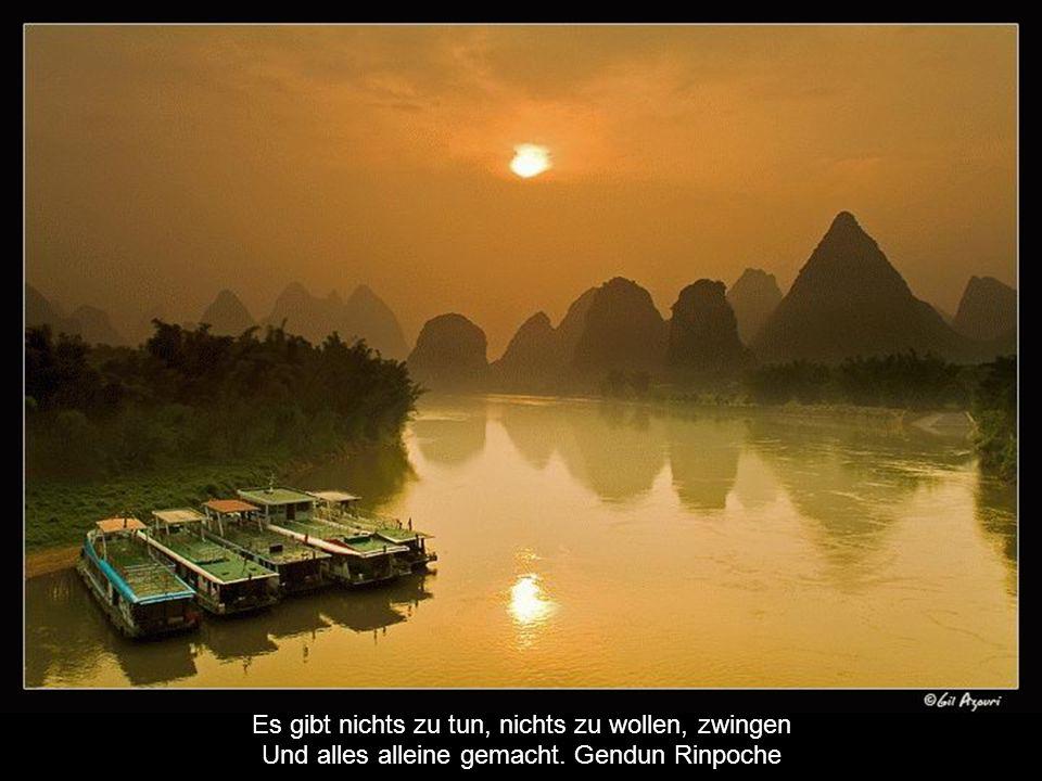 Es gibt nichts zu tun, nichts zu wollen, zwingen Und alles alleine gemacht. Gendun Rinpoche