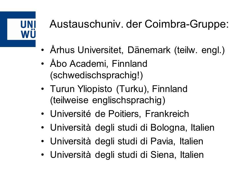 Austauschuniv. der Coimbra-Gruppe: