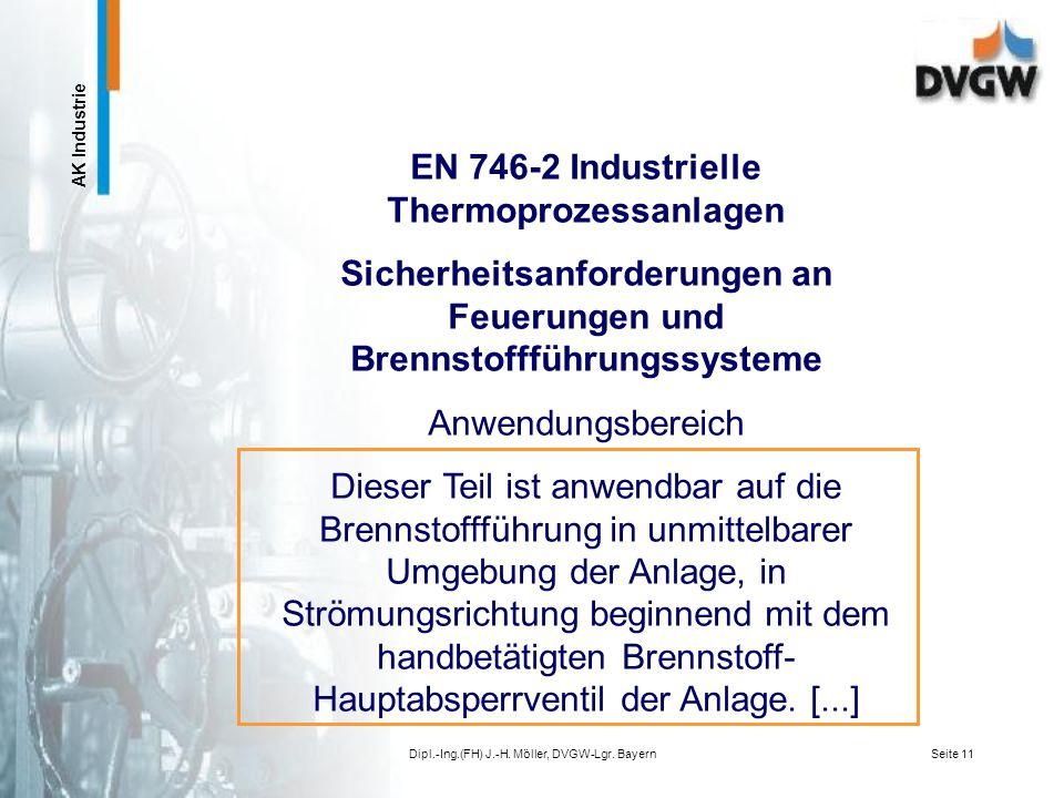 EN 746-2 Industrielle Thermoprozessanlagen
