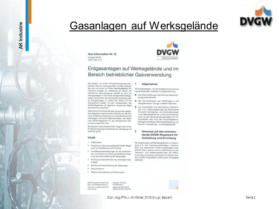 Gasanlagen auf Werksgelände