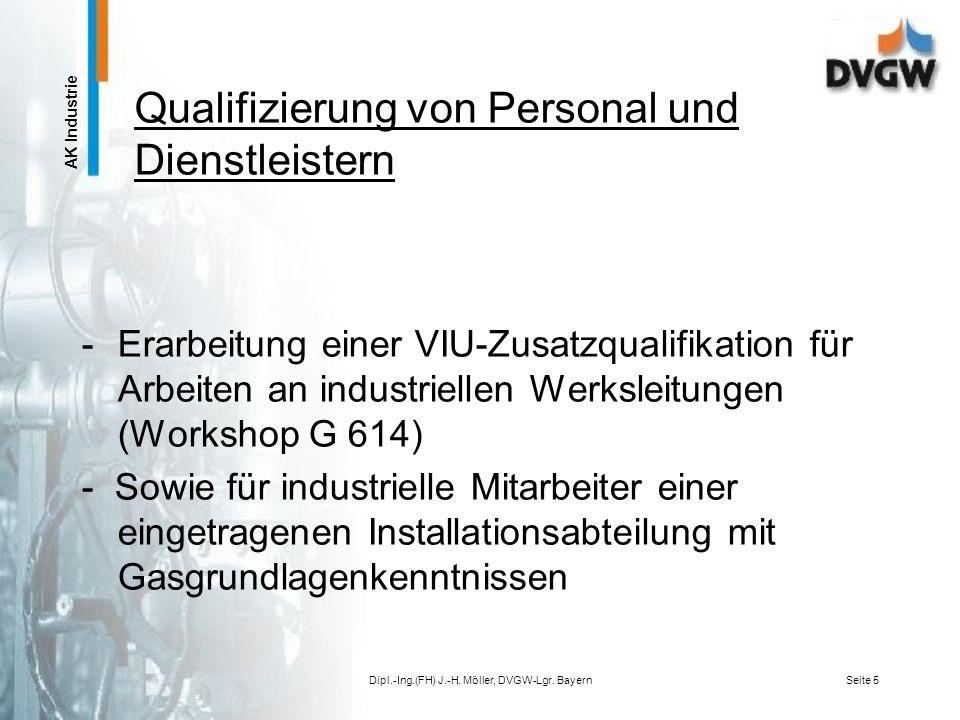 Qualifizierung von Personal und Dienstleistern
