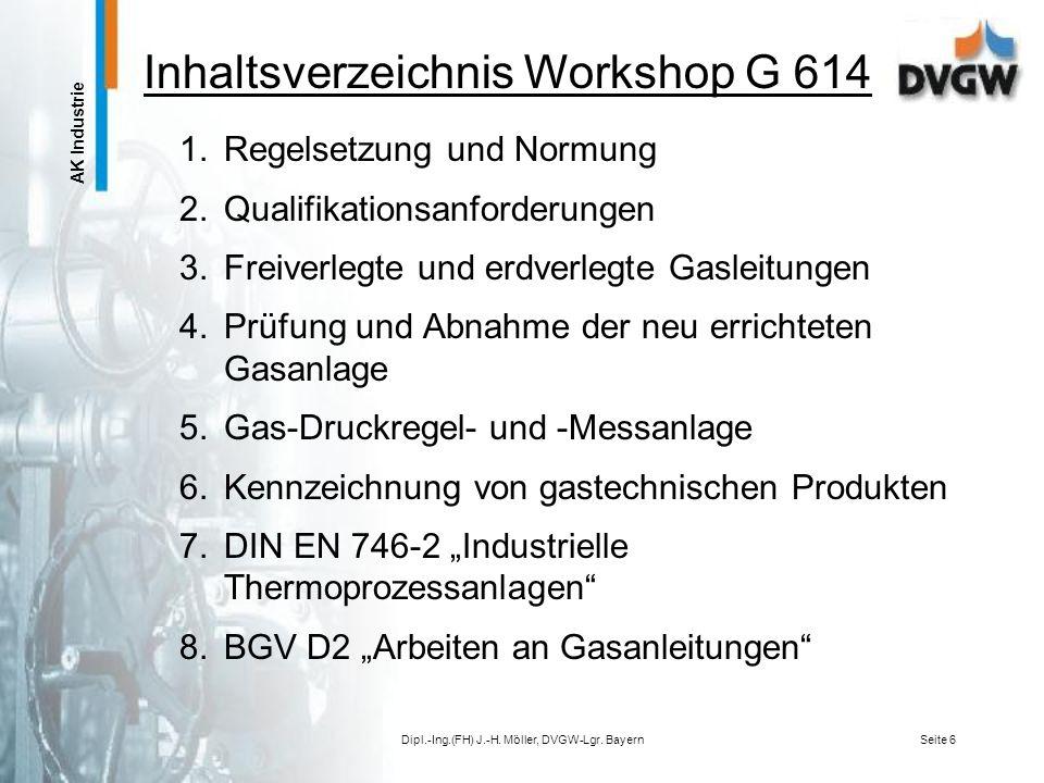 Inhaltsverzeichnis Workshop G 614
