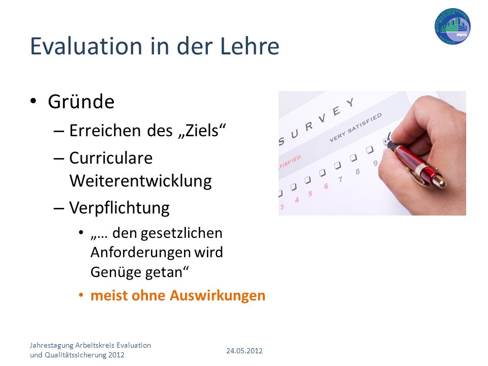 Evaluation in der Lehre