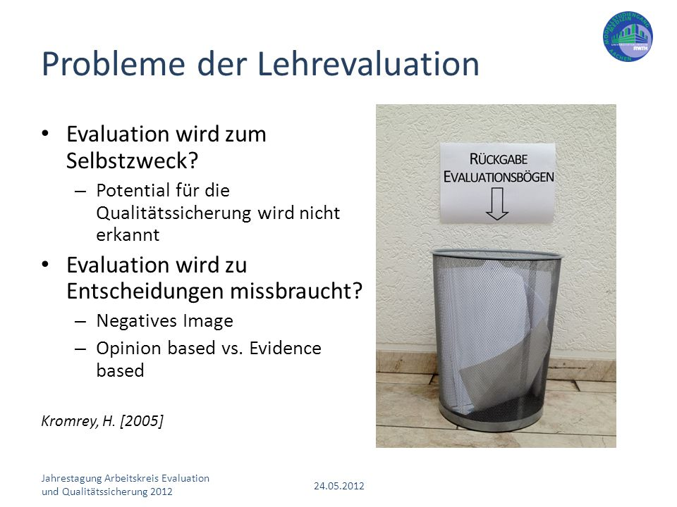Probleme der Lehrevaluation