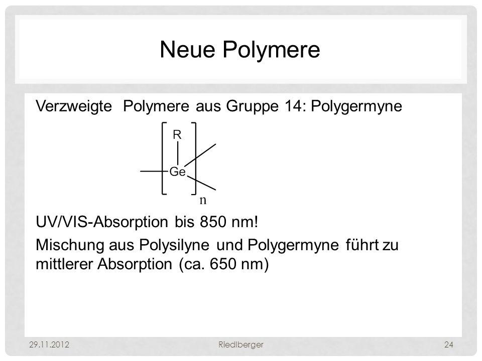 Neue Polymere Verzweigte Polymere aus Gruppe 14: Polygermyne