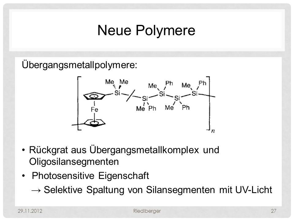 Neue Polymere Übergangsmetallpolymere: