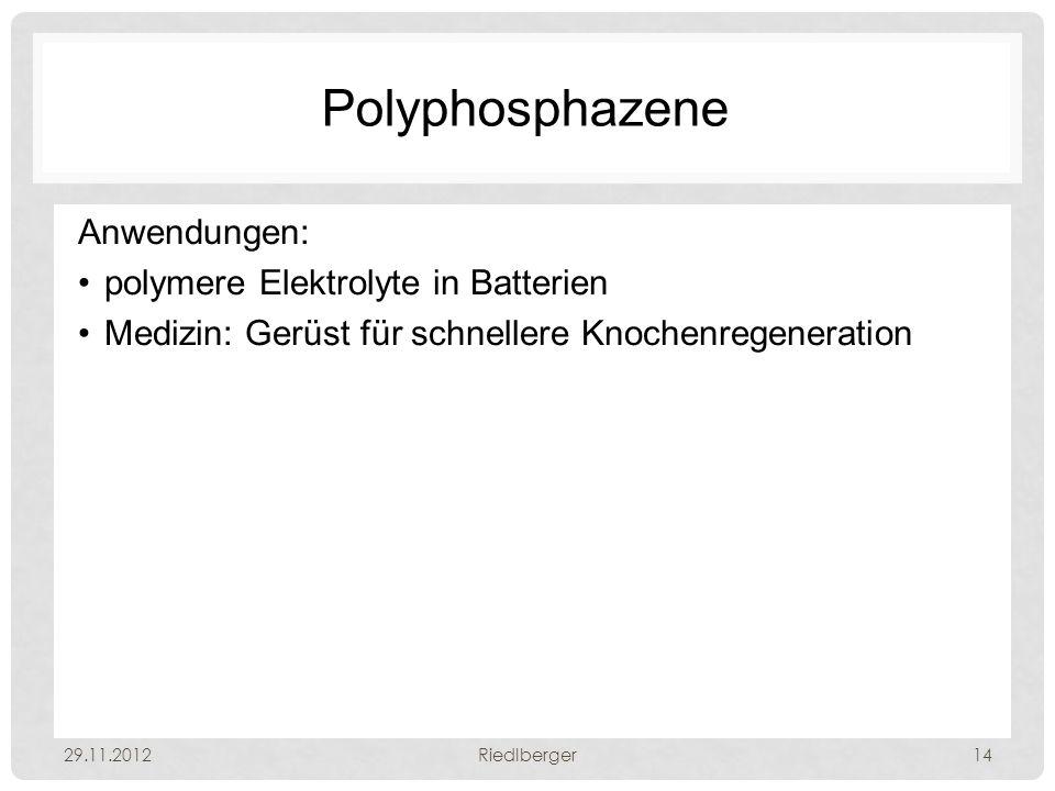 Polyphosphazene Anwendungen: polymere Elektrolyte in Batterien