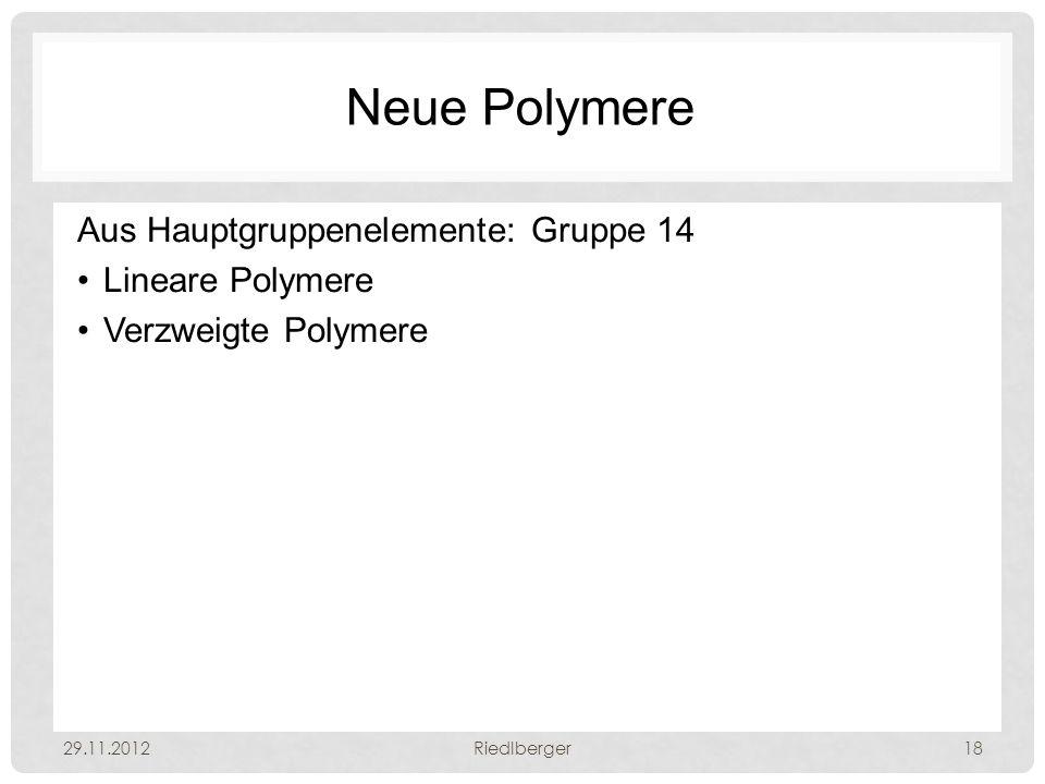 Neue Polymere Aus Hauptgruppenelemente: Gruppe 14 Lineare Polymere