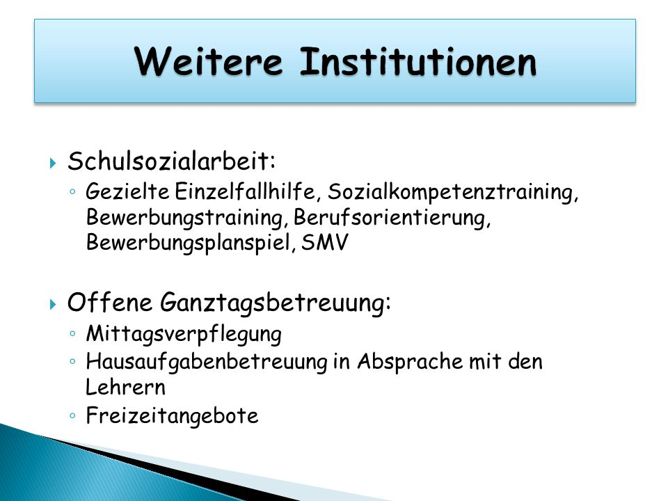 Weitere Institutionen