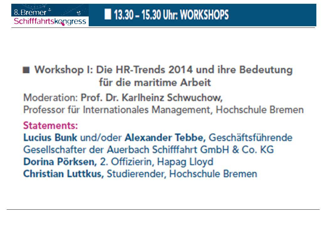 HR-Trends 2014 und ihre Bedeutung für die maritime Arbeit