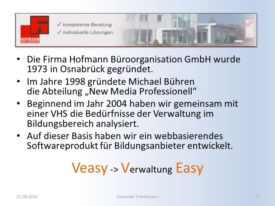 Die Firma Hofmann Büroorganisation GmbH wurde 1973 in Osnabrück gegründet.