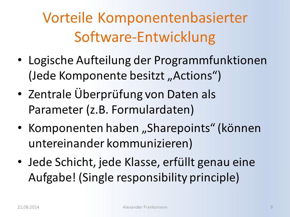 Vorteile Komponentenbasierter Software-Entwicklung