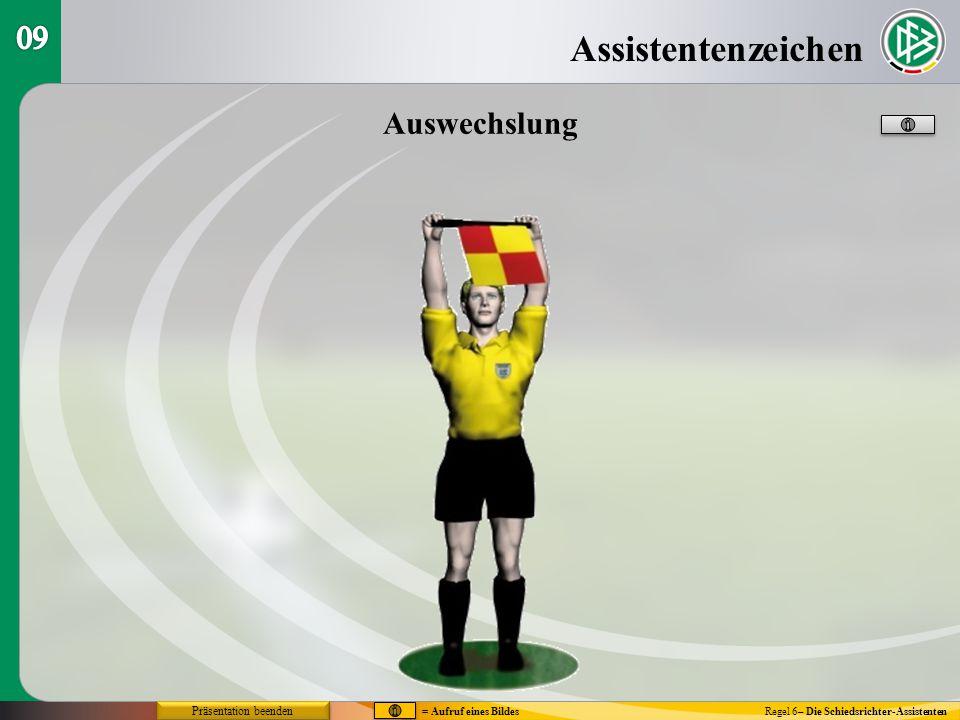 Assistentenzeichen 09 Auswechslung Präsentation beenden