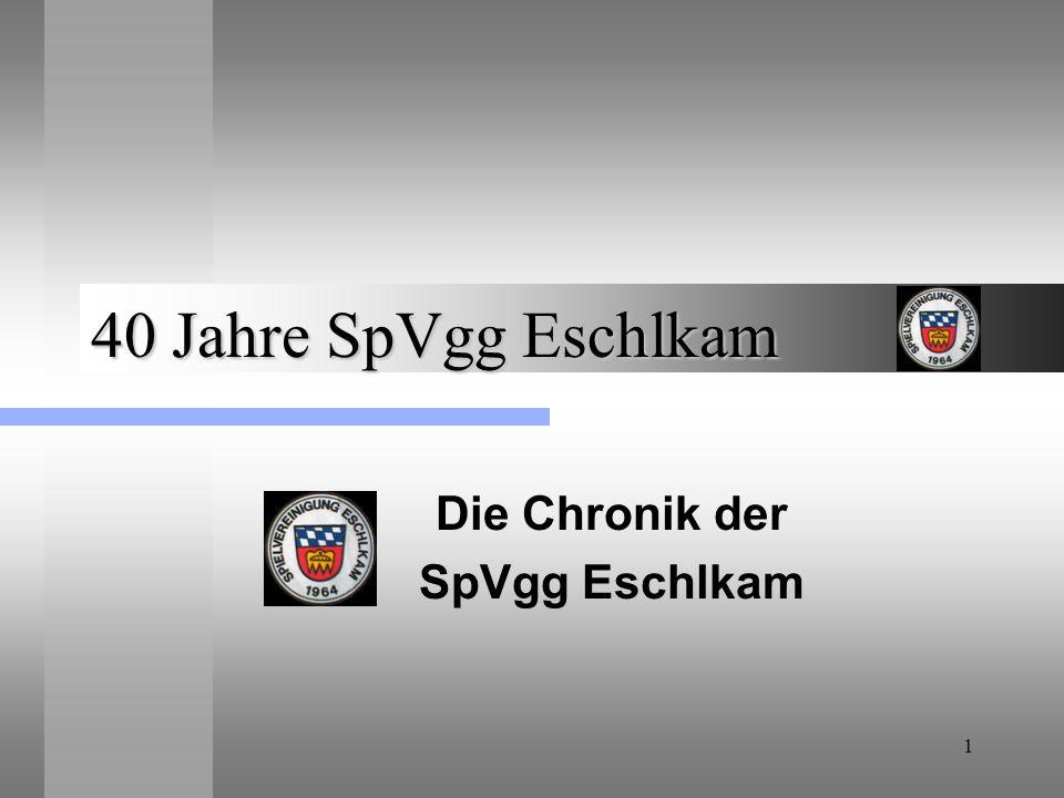 Die Chronik der SpVgg Eschlkam