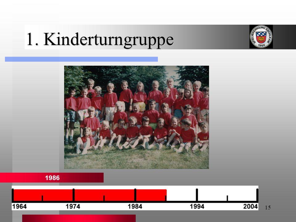 1. Kinderturngruppe 1986