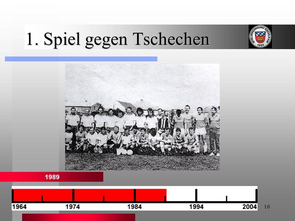 1. Spiel gegen Tschechen 1989