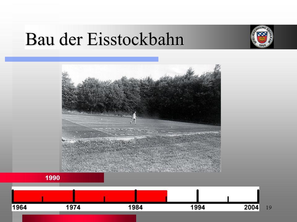Bau der Eisstockbahn 1990