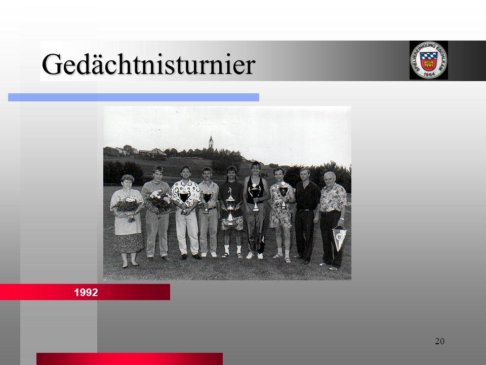 Gedächtnisturnier 1992