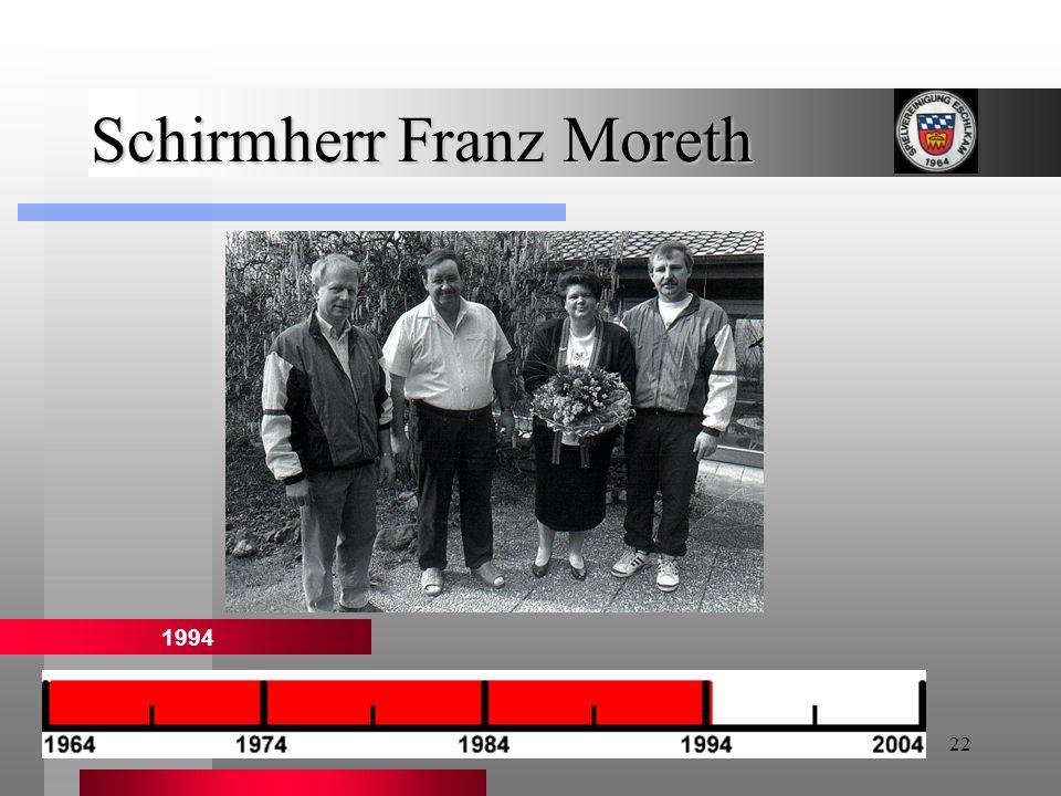 Schirmherr Franz Moreth