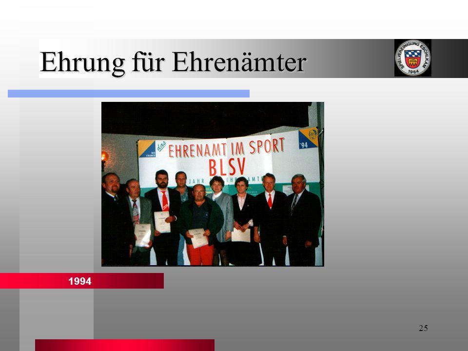 Ehrung für Ehrenämter 1994