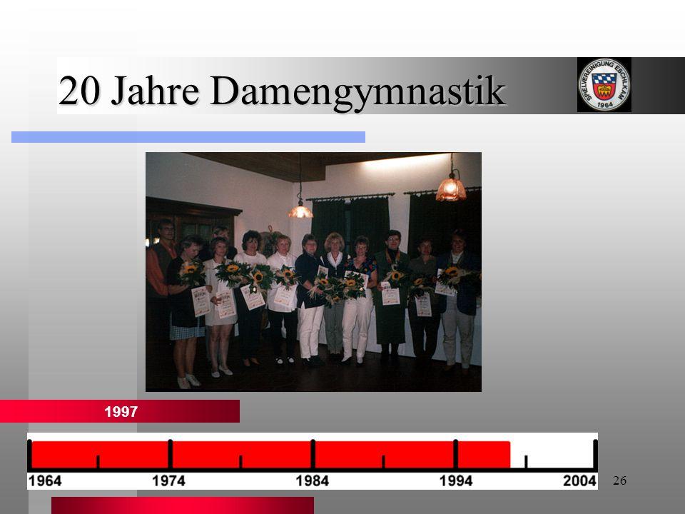 20 Jahre Damengymnastik 1997