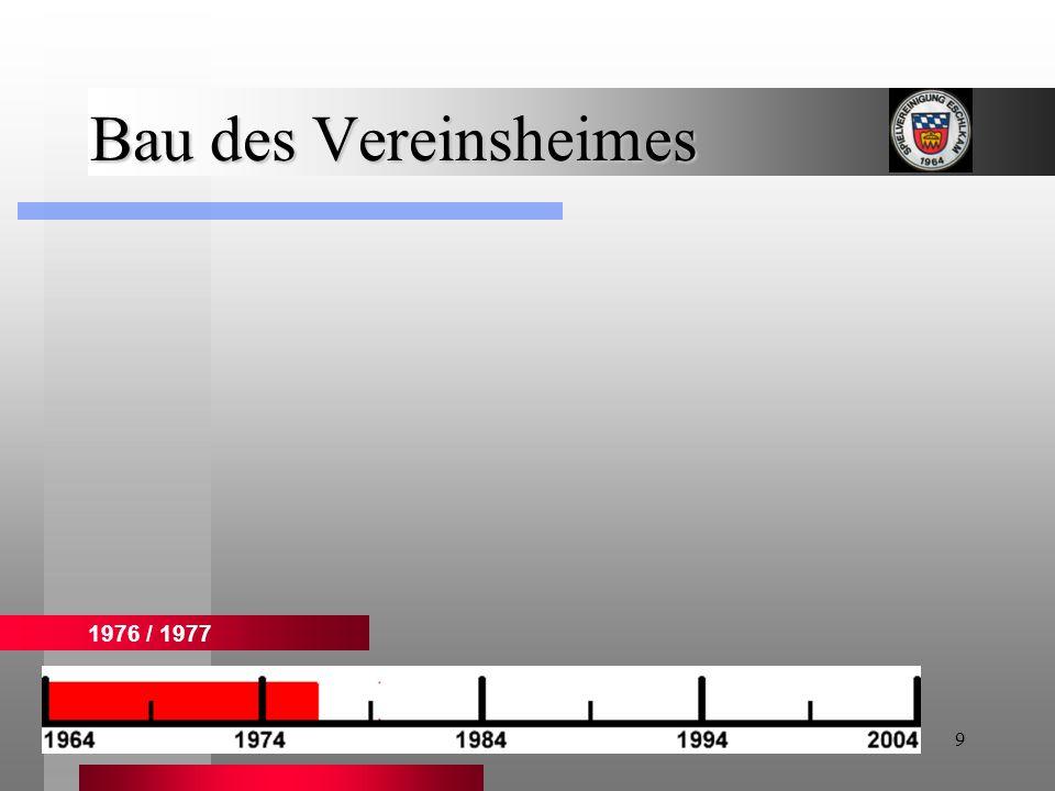 Bau des Vereinsheimes 1976 / 1977