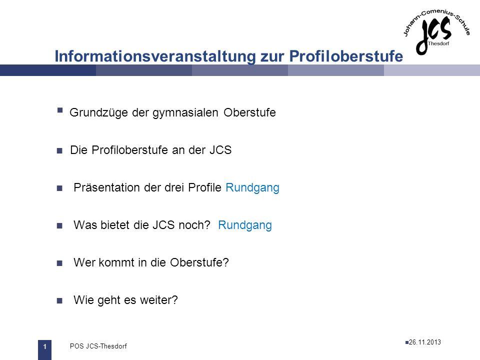 Informationsveranstaltung zur Profiloberstufe