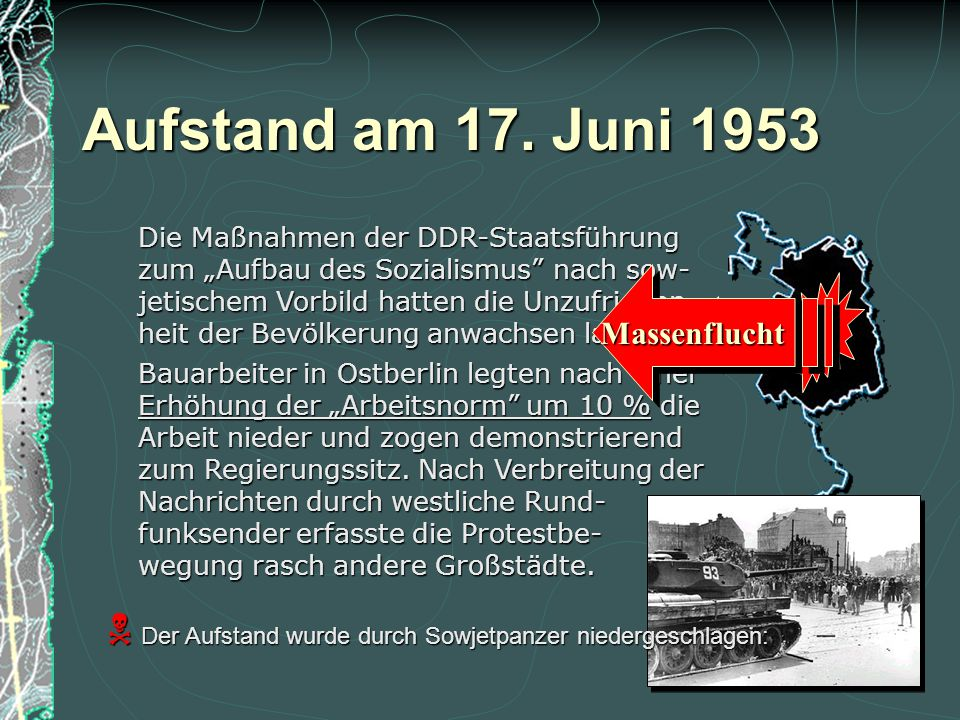 Aufstand am 17. Juni 1953 Massenflucht