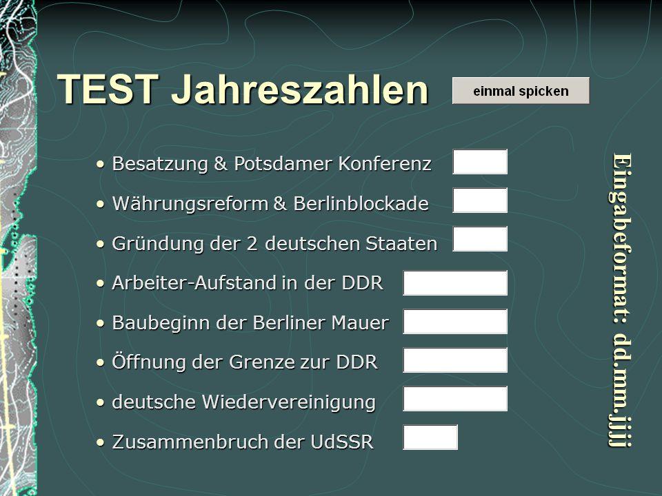 TEST Jahreszahlen Eingabeformat: dd.mm.jjjj