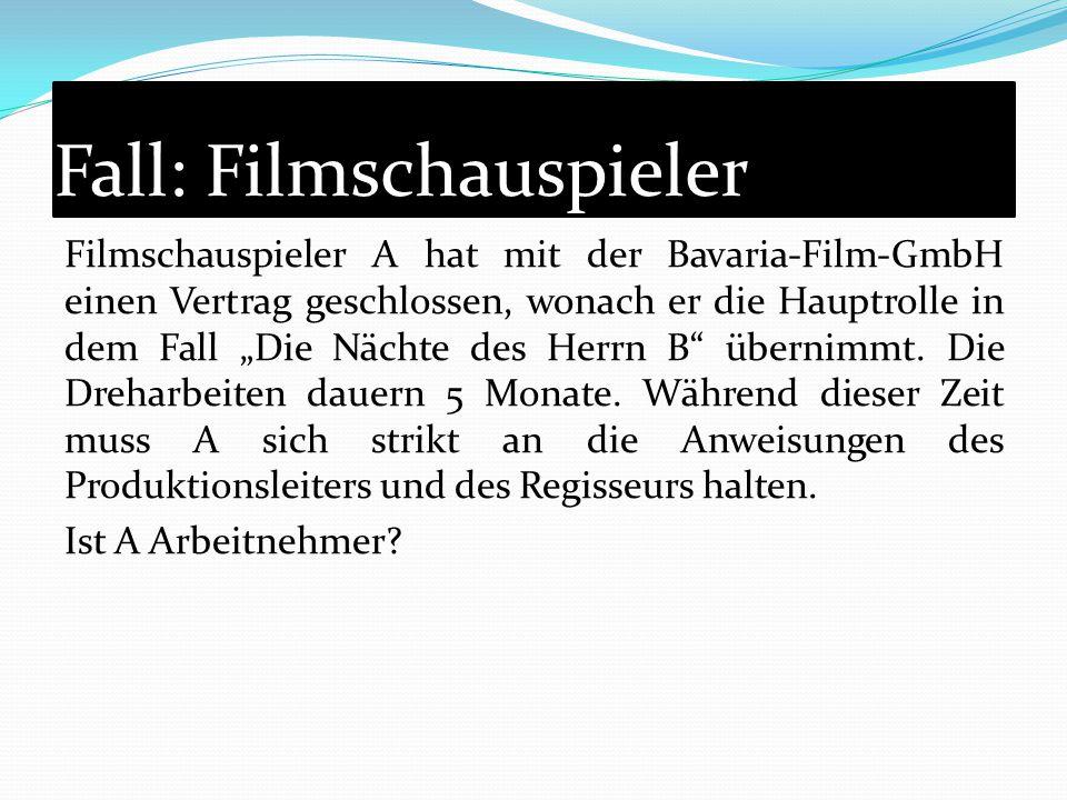 Fall: Filmschauspieler